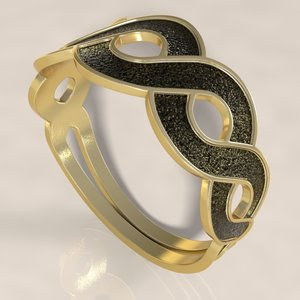 3d infinity ring model