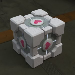 3dsmax weighted companion cube