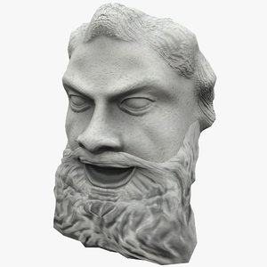 max satyr face statue 4