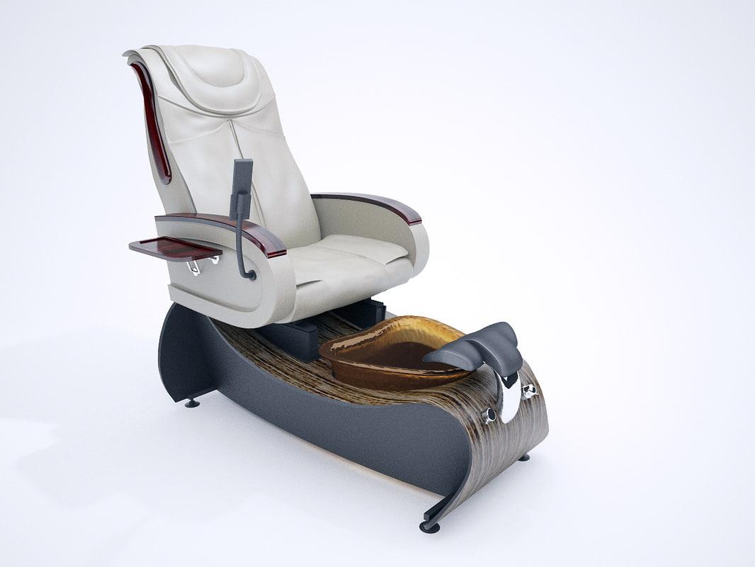 spa chair 3d model