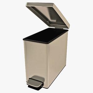 3d step wastebasket