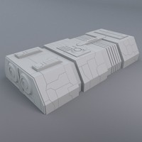 greeble structure 3d model