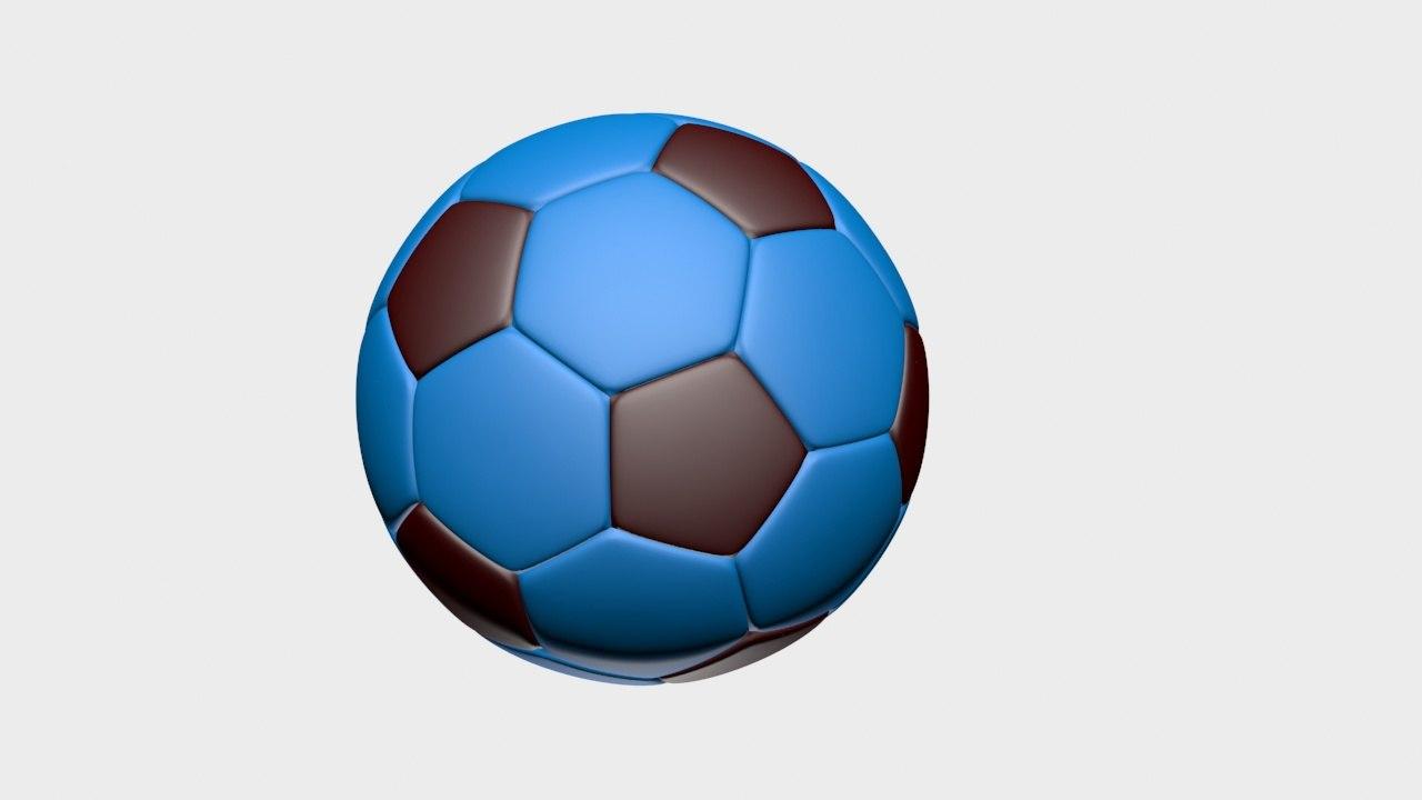 free football ball 3d model
