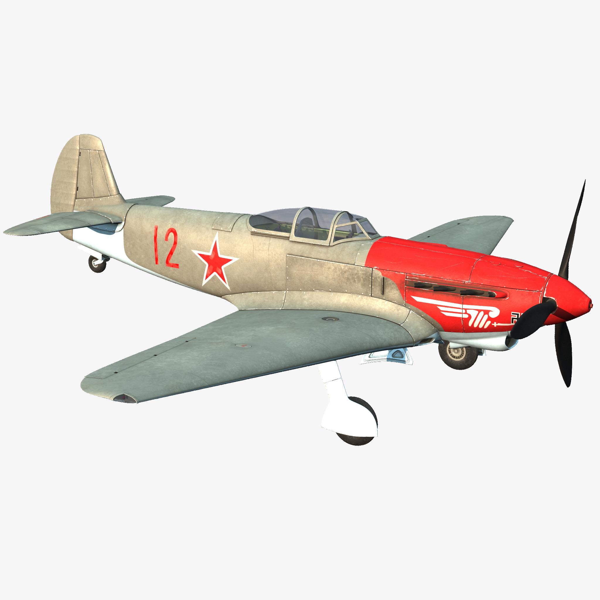 3d model of yakovlev yak-9 soviet world war