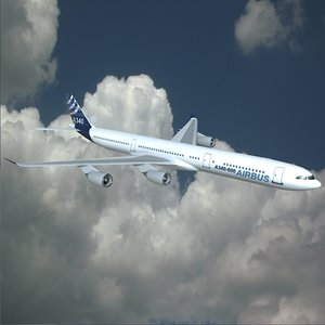 3ds airplane airbus a340-600