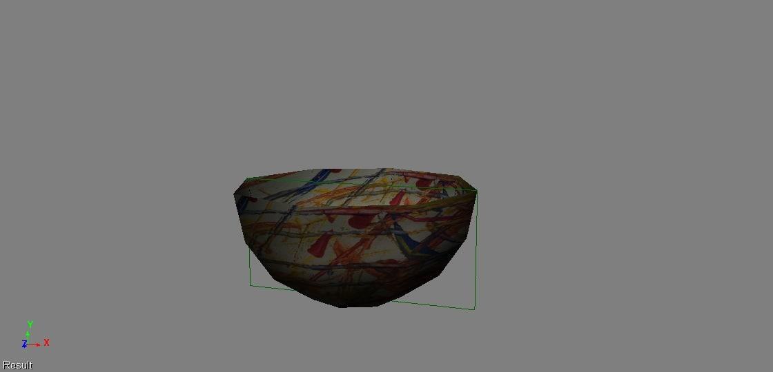 bowl special artistic 3d fbx