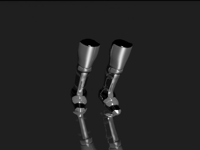 legs armor 3d model