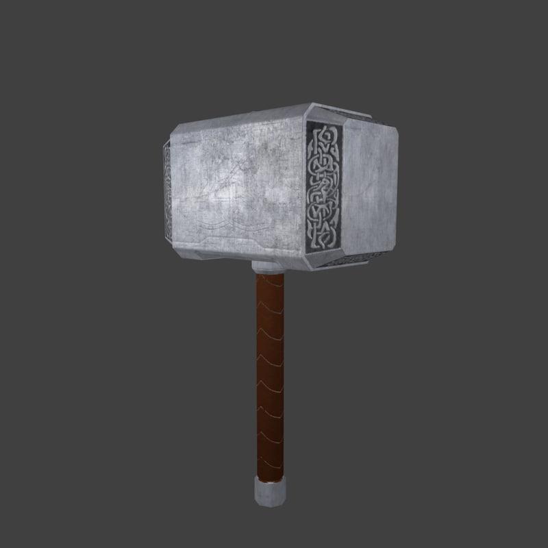 maya thor hammer - mjolnir
