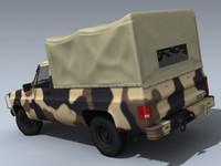 3d army m1008 desert model