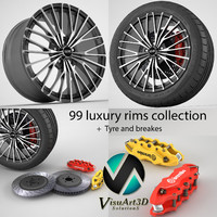 3ds 99 wheel rims