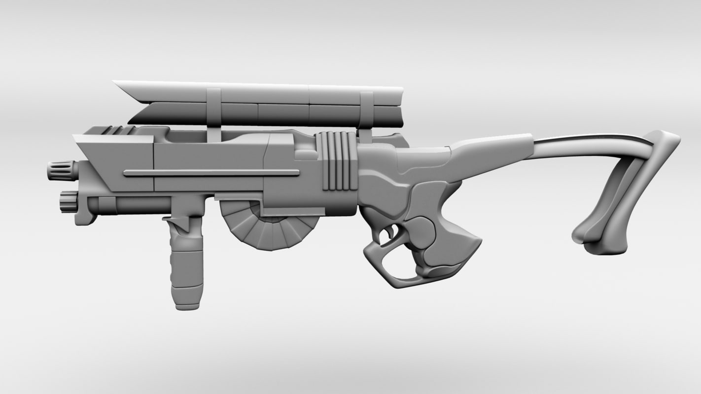 maya smooth rifle gun