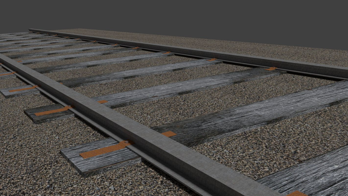 railroad tracks 3d model