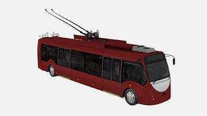 trolleybus bkm-420 3d model