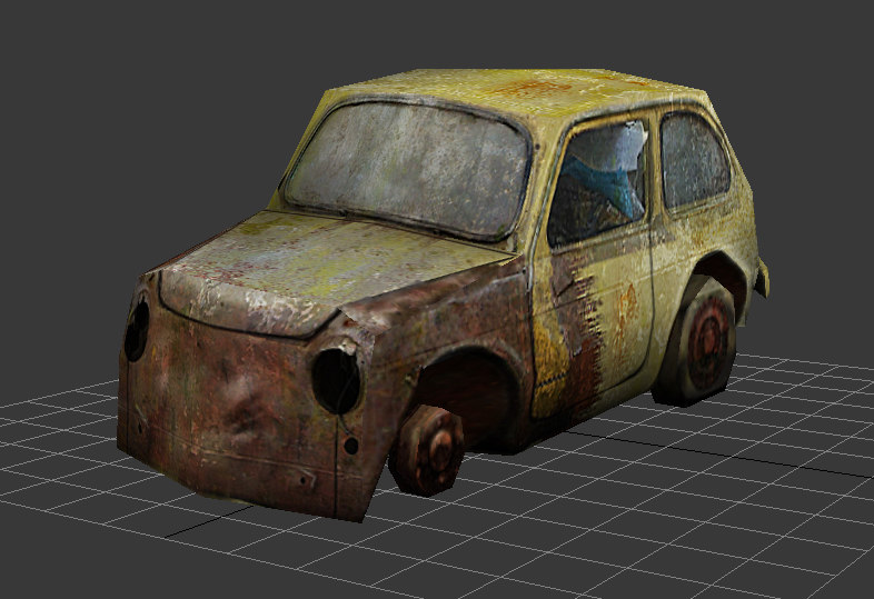 ma prop rusty car
