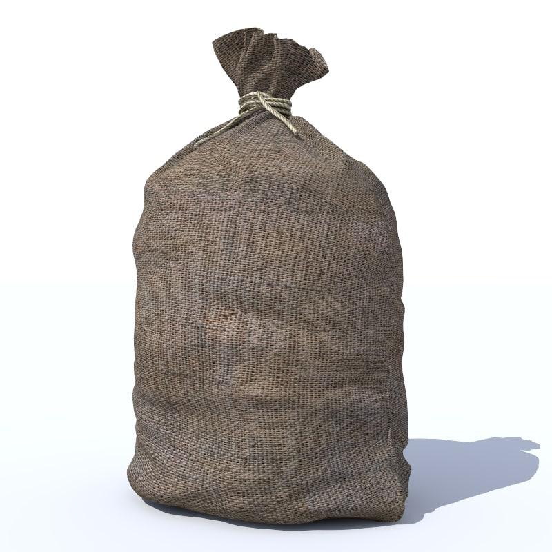 3d model sack