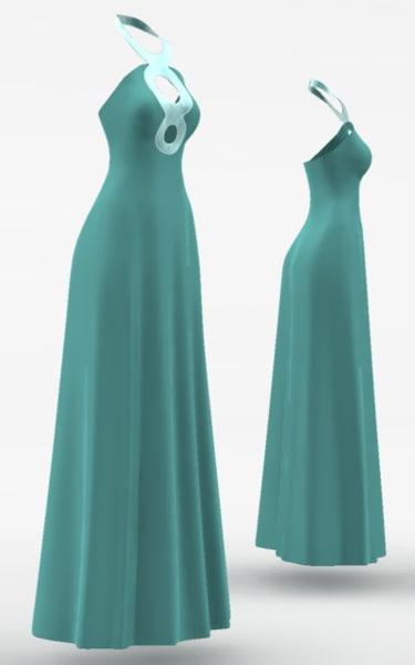 dress cloth simulations 3d max