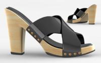 3d shoes cloth model