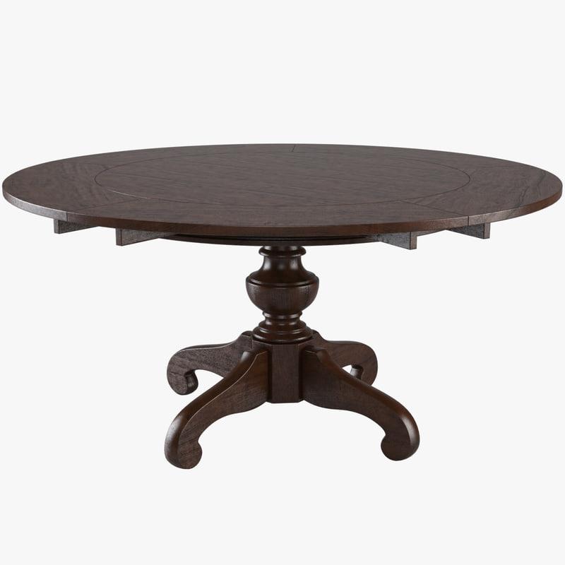dinner table 3d model