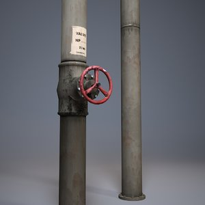 3d pipes set model