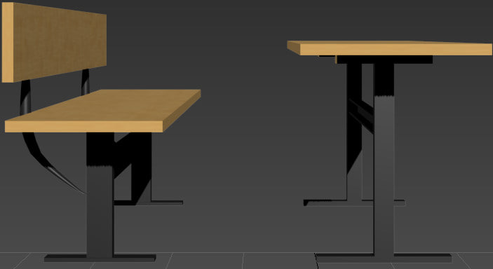 max desk bench