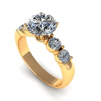 Two Sid Stone Diamond Ring R18