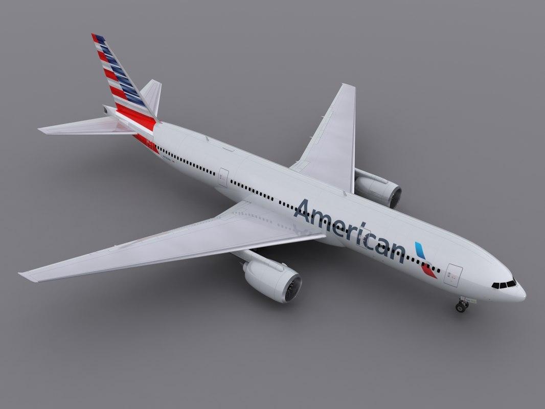aircraft aa 2013 3d obj