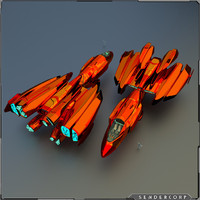 3d model of space cruiser