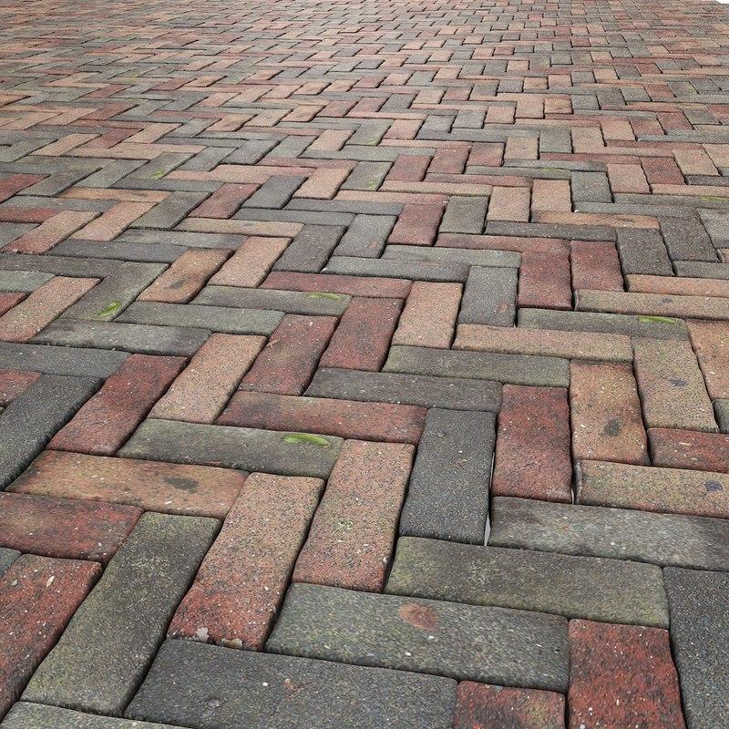 3d max stone pavement floor