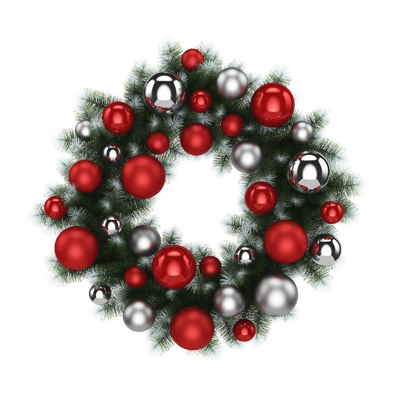 3d wreath christmas model