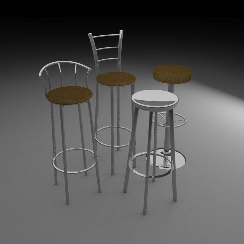 bar stools 3d max