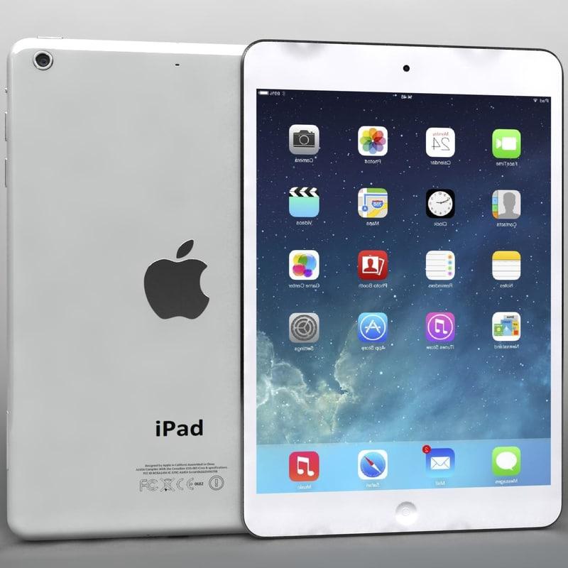 3d model of apple ipad air mini