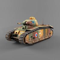 3d b1 heavy tank model