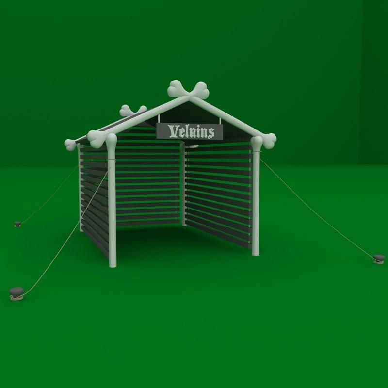 dog doghouse house 3d model