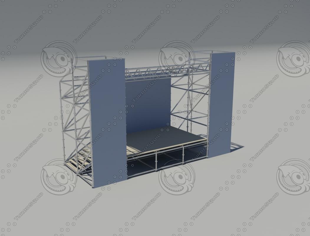 scene arena concert 3d model