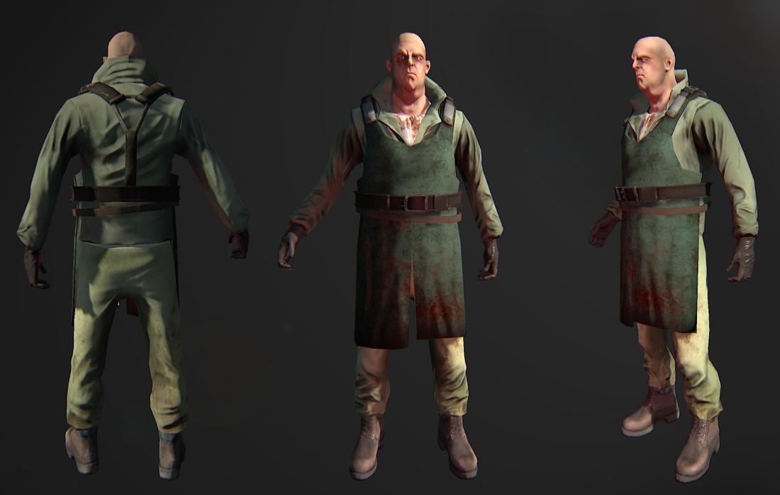 3d character butcher gam model