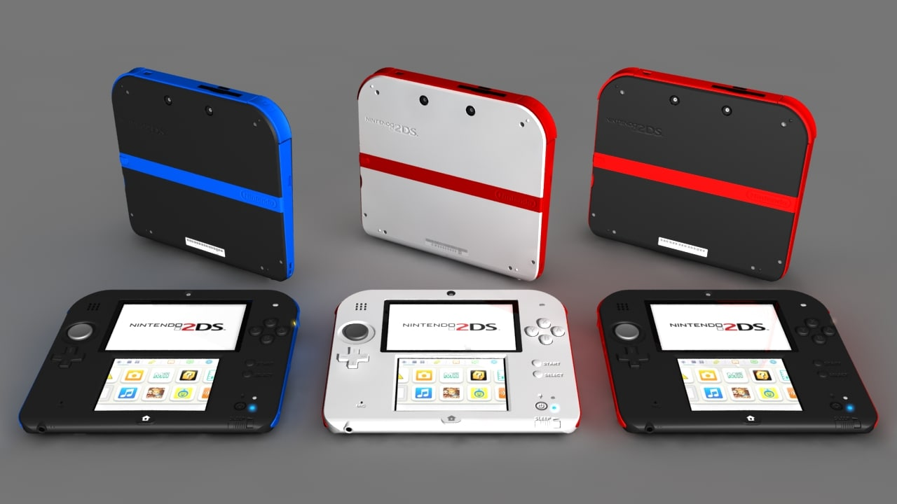 nintendo 2ds video 3d max