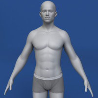 realistic african man body max