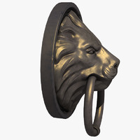 3d x lion door knocker