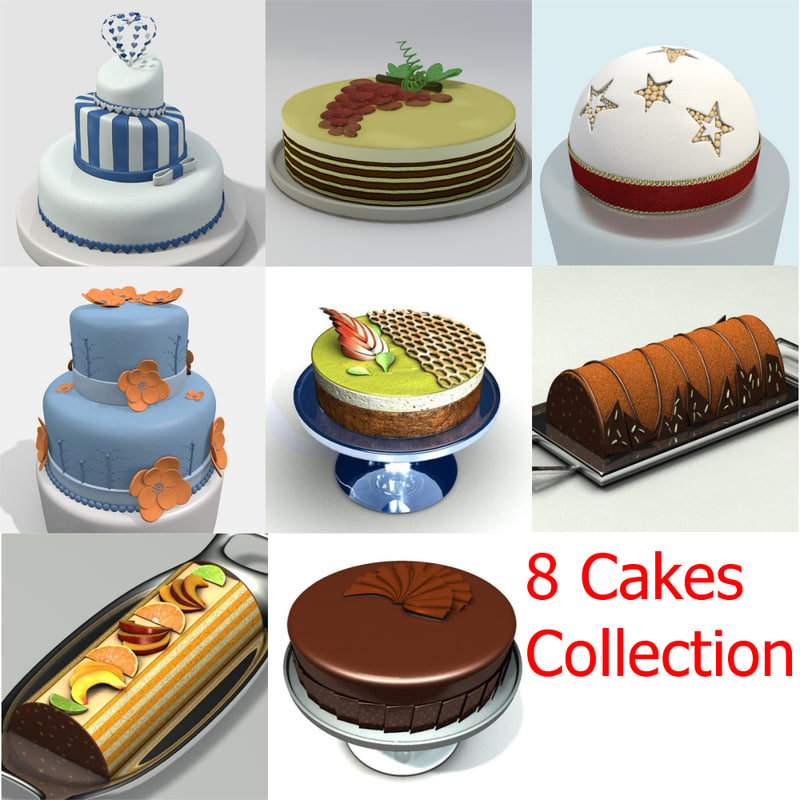 3ds cakes fruit chocolate