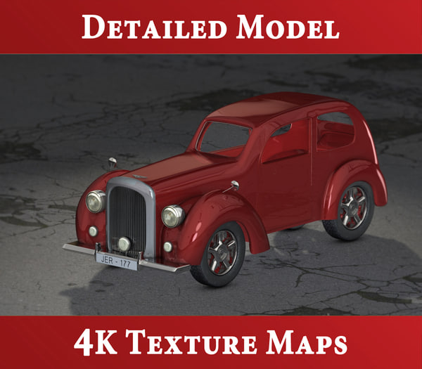 3d model exterior classic bentley