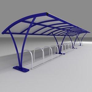 3d model bike shelter