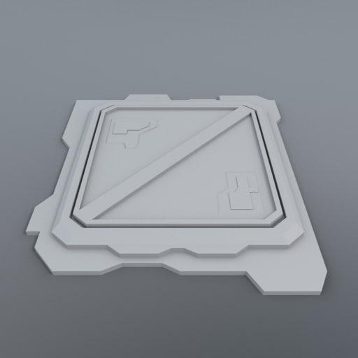 3d model cargo hatch