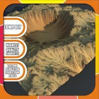 crater terrain 3d model