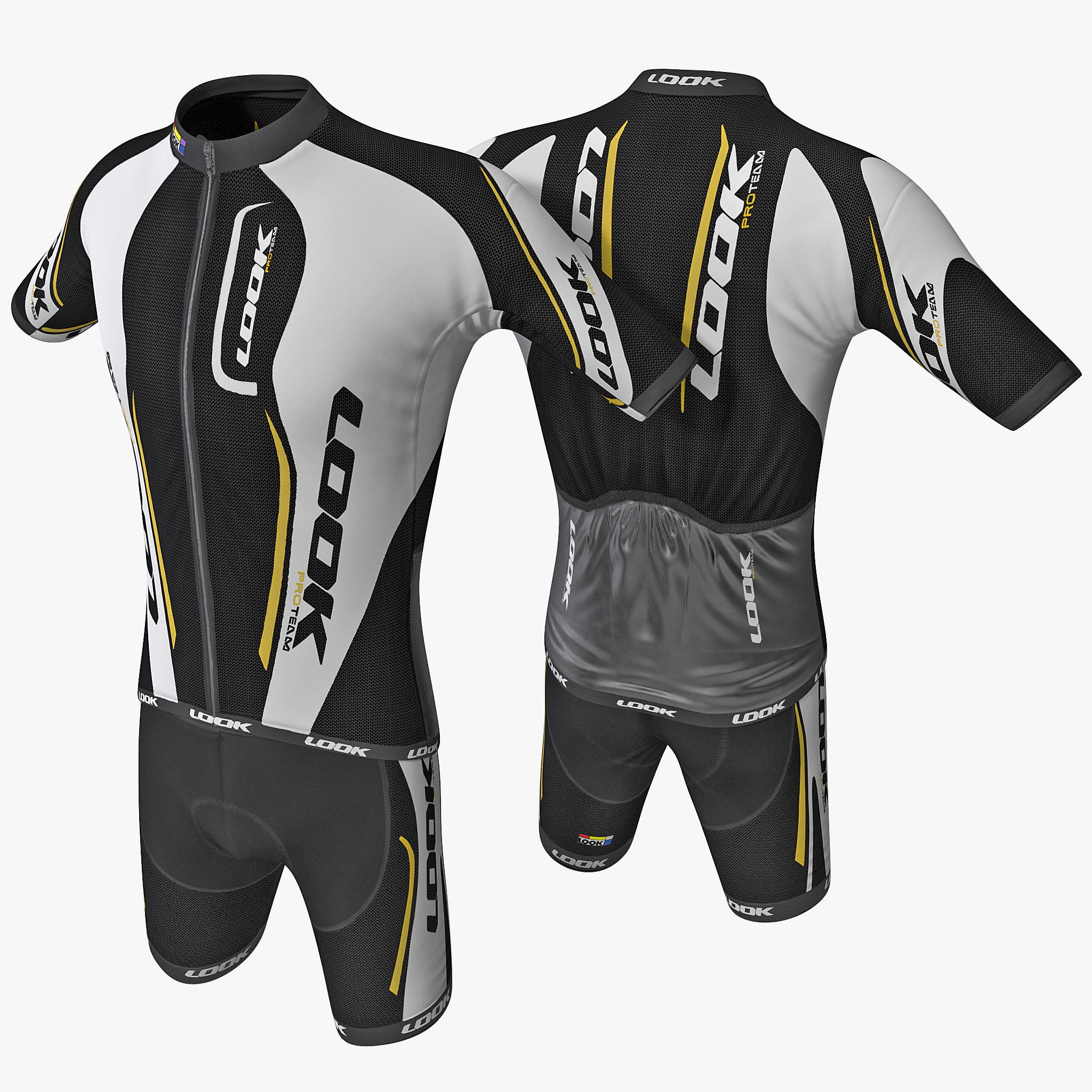 3d model cyclist clothes 3