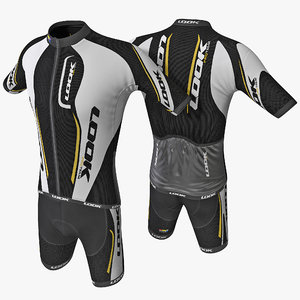 3d model cyclist clothes 3