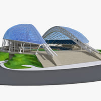 3d model fisht olympic stadium