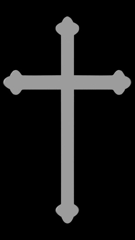 3d cross ornamental church