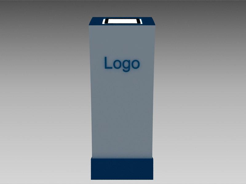 3d touchscreen kiosk model