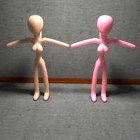 3d model of pink skin