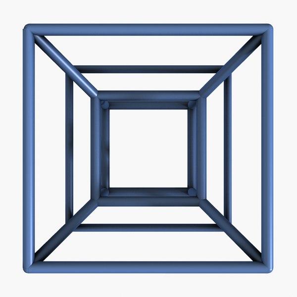 hypercube cube 3d model
